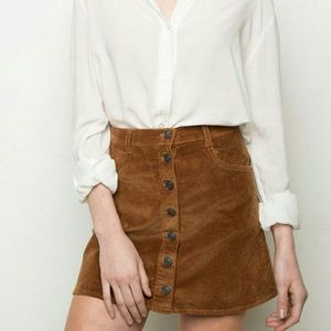 Brandy Melville Brown Corduroy Skirt